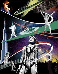"""bowieisbowie: """"Something like religion…Dancing face to face…Something like a drowningDancing out in space…No-one here can see you…Dancing face to face…No-one here can beat you…Dancing face to face 129. DANCING OUT IN SPACE - Album: The Next Day,..."""