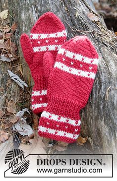 Baby - Free knitting patterns and crochet patterns by DROPS Design Knitted Mittens Pattern, Jumper Knitting Pattern, Knit Mittens, Knitting Patterns Free, Knitting Yarn, Free Knitting, Baby Knitting, Crochet Patterns, The Mitten