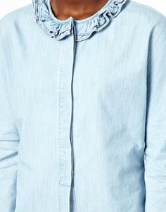 Image 3 ofSee By Chloe Chambray Shirt with Pierrot Collar