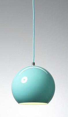 Verner Panton Topan Pendant Lamp Light Blue