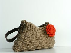 such a cute knitted bag!