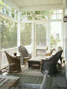 Screened porch detail