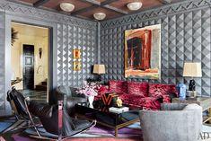 Vivid Hue Home: Kelly Weastler Kelly Wearstler, Architectural Digest, Interior Design Inspiration, Room Inspiration, Moodboard Inspiration, Textures Murales, Bel Air, Velvet Room, Top Interior Designers