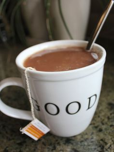 1 mint tea bag 1-2 tablespoons cocoa powder 2 tablespoons non-dairy milk stevia or your choice of sweetener, to taste