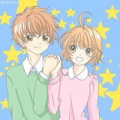 「桜と小狼」/「ちか」[pixiv] Their hands looks pretty weird, but I like the basic gist of the picture