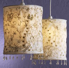 Handmade re cycled pip studio fabric lampshade i love lamps hippy lightshadeethnic cream lampshade with gold embroideryfair trade by folio gothic hippy l5 mozeypictures Images