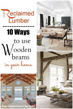 Reclaimed lumber wooden beams