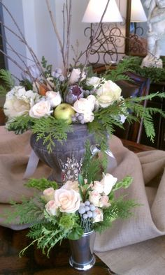 A Matter Of Taste~ Holiday Flowers for the table.