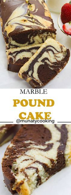 Marble pound cake recipe. A combination of two amazing flavors, authentic pound cake and fudge chocolate cake.
