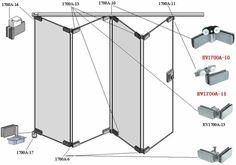 House Window Design, Door Design, House Design, Folding Door Hardware, Folding Doors, Partition Door, Movable Walls, Window Accessories, Door Fittings