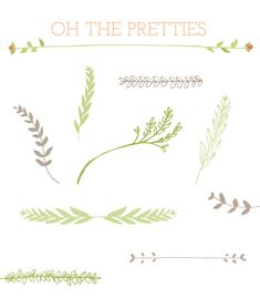 Leaves, Stems and Laurels Clip Art Table Origami, Bow Image, Wreath Drawing, Journaling, Laurel Wreath, Frame Clipart, Illustrations, Logo Inspiration, Art Drawings