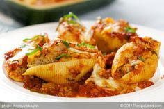Beef Stuffed Shells - a delicious main dish entree.