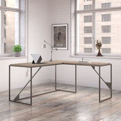 Shop Carbon Loft Plimpton Industrial Desk with 37-inch Return in Rustic Grey - Free Shipping Today - Overstock - 17994642