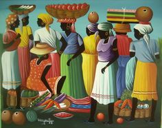 Haitian art changed everything for me... this painting by Berny Mathias