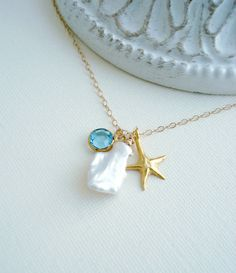 Starfish Necklace In Gold Starfish Pendant by AnechkasJewelry