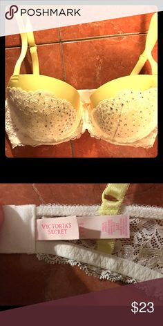 Victoria's Secret demi rhinestone bra 34d Victoria's Secret lace and rhinestone demi bra size 34d, like new. Open to trades Victoria's Secret Intimates & Sleepwear Bras