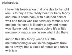This is too... ugh no! Remus and Tonks... I love teddy