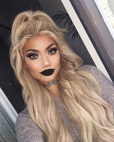 """I look like a here I'm wearing @bellamihair Khaleesi set in """"Ash blonde"""" for volume and length! So much hair I'm obsessed with these extensions. Use code """"Alina"""" to save some at checkout"""