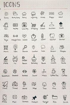 Icon doodles for pretty bullet journal pages. Ideas for bullet journal icons. Bring your bullet journal or diary to life. Bullet Journal Writing, Bullet Journal Headers, Bullet Journal Banner, Bullet Journal 2020, Bullet Journal Aesthetic, Bullet Journal Ideas Pages, Bullet Journal Inspo, Bullet Journal Layout, Bullet Journal Ideas How To Start A