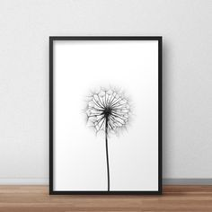 Dandelion Print Dandelion Art Dandelions Wall Decor Poster. Pretty black and white botanical photograph on a white background. Scandinavian poster and decor. Instant download for modern and contemporary home.    ✭ ✭ ✭ PRINT IT & FRAME IT YOURSELF! ✭ ✭ ✭ Print Your Own Artwork - Find the perfect artwork for your modern home. Simply download your files from Etsy & send them to print!  ★ ORDERING  How it works: 1. Place this item in the cart to purchase it. 2. Click the *CHECKOUT* button 3. If…
