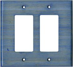 Bamboo Smoke Blue Light Switch Plates, Outlet Covers, Wallplates