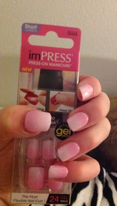imPress press-on nails...these things are THE BEST!!! They last for a week, and they are flexible, unlike a lot of stick-on nails!!!! Love them!