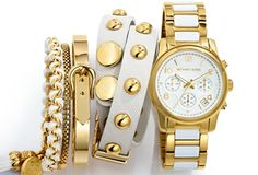 White gold or white and gold, whichever way, stacking won't make you pay