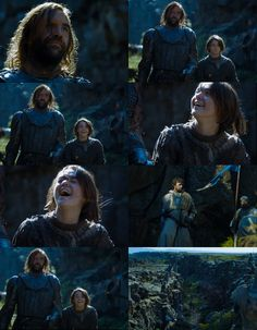 Arya and the Hound react to Lysa Arryn's death. The laugh heard through all of…