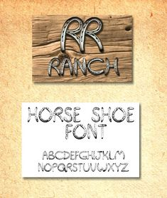 The Horse Shoe Font is made from a REAL set of letters made from ...