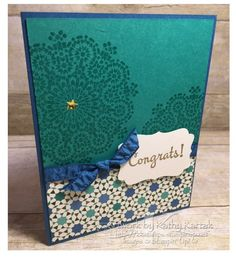Moroccan Congrats by kkrab5 - Cards and Paper Crafts at Splitcoaststampers