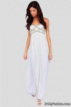 white strapless maxi dress 2017-2018 » B2B Fashion 3f940591e4
