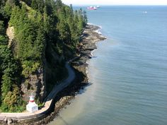 Prospect Point... Stanley Park seawall with damages of the winter storms...