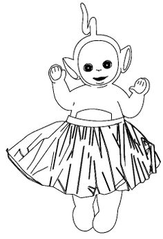 pictures cute teletubbies laalaa coloring pages - Teletubbies Dipsy Coloring Pages
