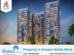 Arihant Group gives you the opportunity to buy residential Property In Greater Noida West with most excellent affordable prices. We are offering properties in different size range. The basic sale price is between 28.36 to 44.64 lacs.  Get More Detail Visit Website: http://www.arihantbuildcon.com/property-in-greater-noida-west.html