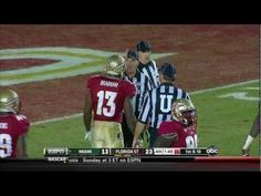 Nigel Bradham's clean hit that got him ejected from his last appearance at Doak, and, eventually, an apology from the ACC front office. 2011, vs Miami.