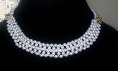 Swarovski pearls and Czech glass seed bead necklace by sassybeadedjewelry. Explore more products on http://sassybeadedjewelry.etsy.com
