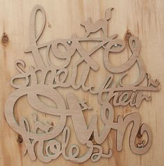Wood for your soul by Mike van Heerden Your Soul, Creative Industries, My Design, Fonts, Nerd, Typography, Behance, Van, Inspire