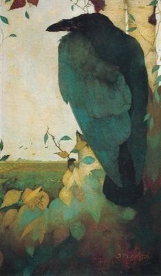 Jan Mankes, Raaf op berkenboom on ArtStack #jan-mankes #art