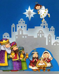 Oh, the possibilities of this nativity scene. Christmas Nativity Scene, Noel Christmas, Christmas Projects, All Things Christmas, Holiday Crafts, Christmas Ornaments, Nativity Scenes, Felt Ornaments, Kirigami