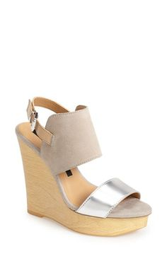 kensie 'Devora' Wedge Sandal (Women) available at #Nordstrom