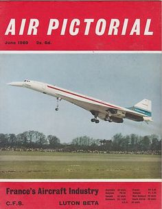 JUNE 1969 AIR PICTORIAL vintage aviation magazine FRANCE AIRCRAFT INDUSTRY