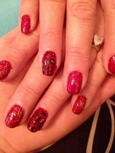 My cheetah and red nail design Red Nail Designs, Red Nails, Girly Girl, Cheetah, Beauty, Make Up, Red Toenails, Cheetah Animal, Beleza