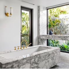 luxury marble bathroom with gold details luxury marble bathroom with gold details luxury marble bath Florida Home, Luxury, Marble Bath, Dream Bathrooms, Glamour Home, Williams Sonoma Home, Bathroom, Luxury Marble, Elle Decor