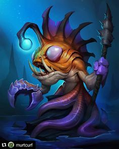 This great art by @murtcurf is rumoured to be a corrupted Coldlight Oracle. I can't wait for it to be revealed! #Hearthstone #OldGods