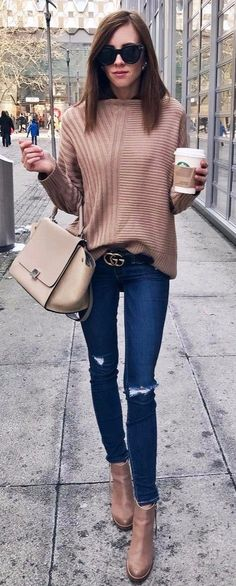 nice workwear jeans + nude details