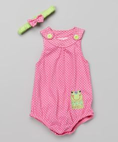 Another great find on #zulily! Duck Duck Goose Fuchsia Frog Bodysuit & Headband - Infant by Duck Duck Goose #zulilyfinds