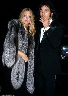 Bill Hudson and Goldie Hawn   Before they were married: Goldie Hawn and Bill Hudson at the Academy ...