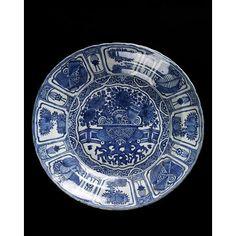 Kiniško porceliano lėkštė, 1605–1615. Viktorijos ir Alberto muziejus, Londonas. /  Chinese porcelain plate, 1605–1615.The Victoria and Albert Museum, London.