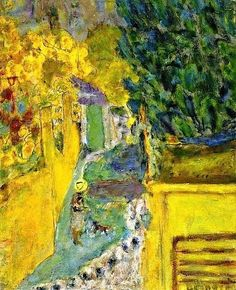 Stairs at Le Cannet Pierre Bonnard - 1946 , Intercepted by Gravitation Pierre Bonnard, Edouard Vuillard, Paul Gauguin, Garden Painting, Painting Art, Paintings I Love, Indian Paintings, Henri Matisse, French Artists