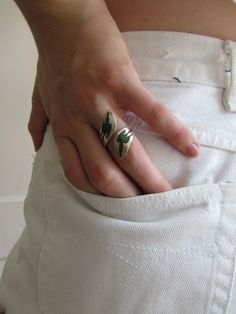 Summer Fashion! Vintage Ring / Vintage Sterling Silver Thunderbird Wrap by LUXXOR, $72.00